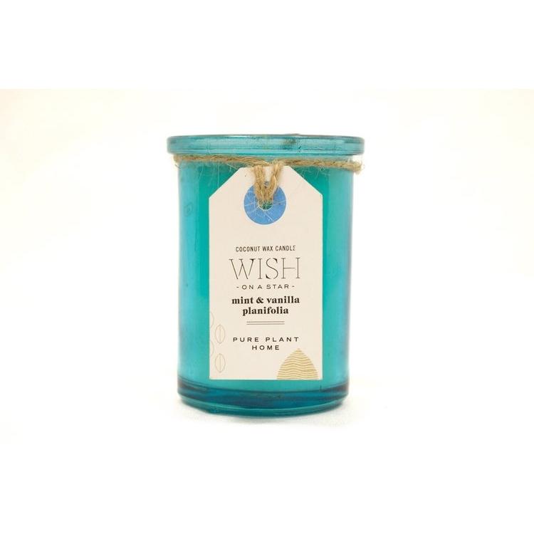 Mint/Vanilla Glass Candle