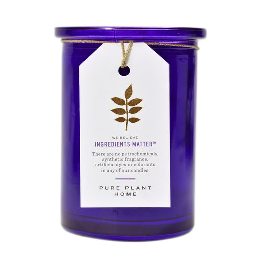 French Lavender Glass Candle