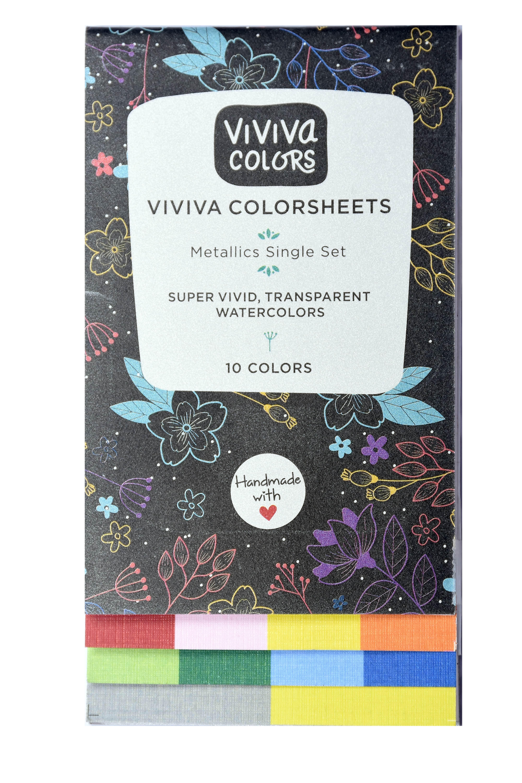Metallic Colorsheets Watercolor Set