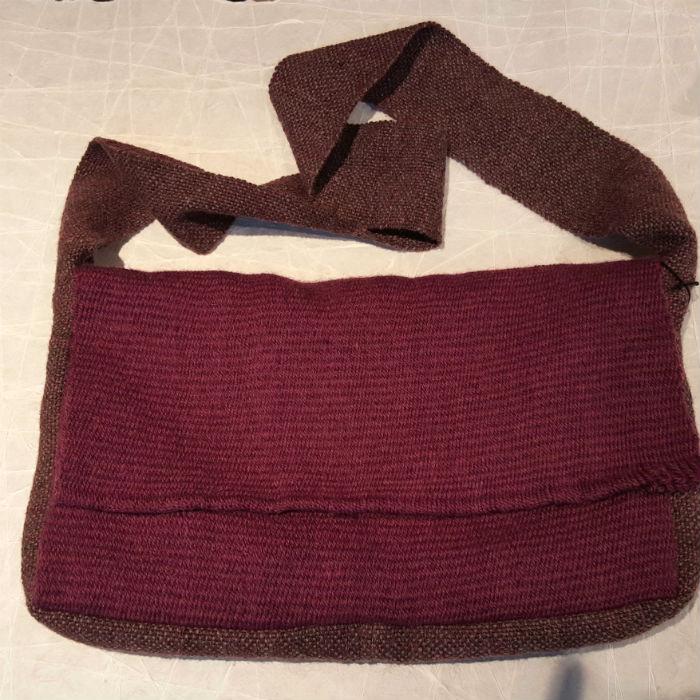 Handmade Woven Messenger Bag