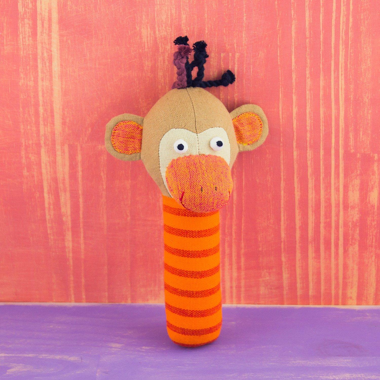 Monkey Plush Rattle
