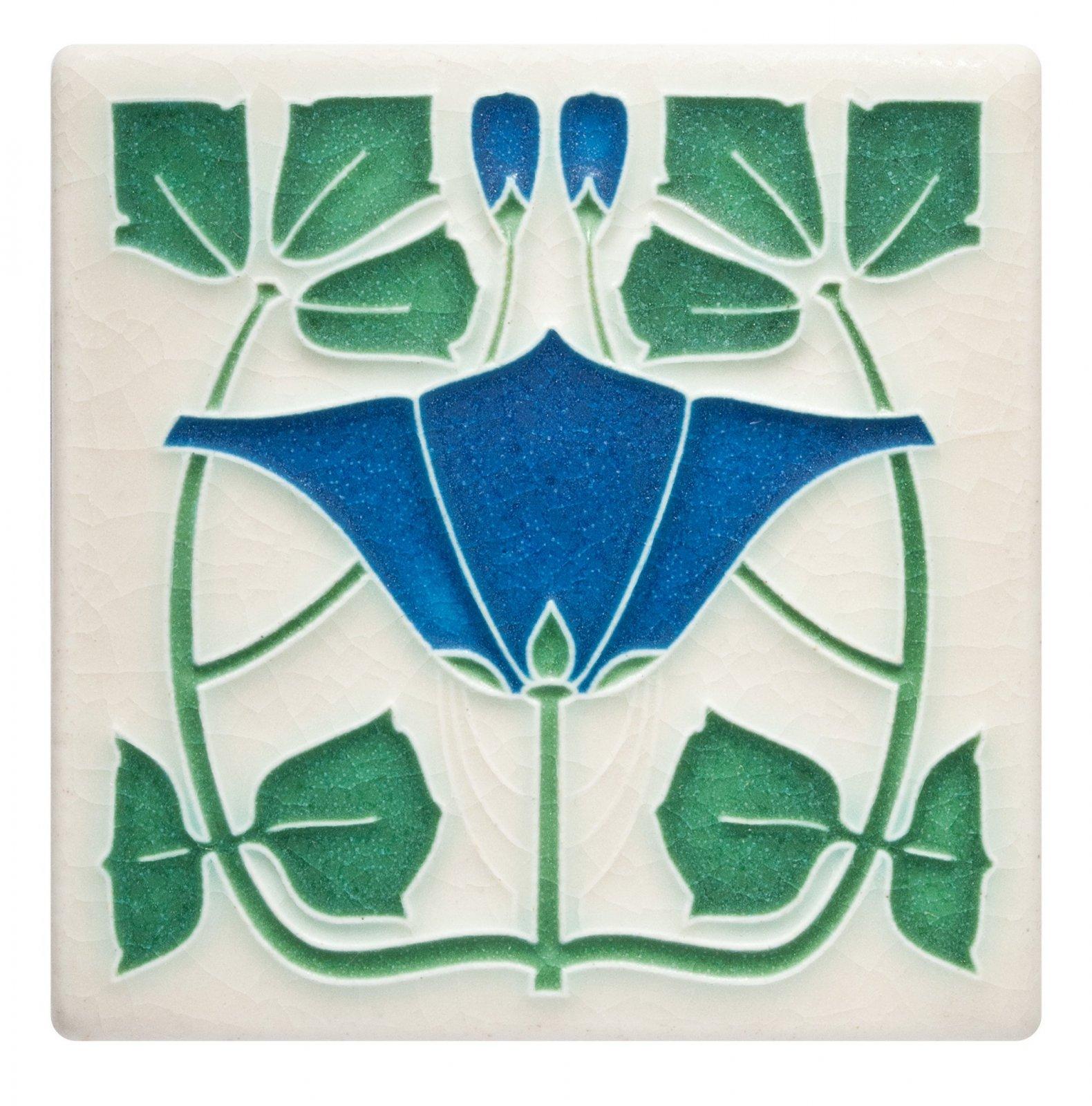 Lizzie 4x4 Tile in Blue