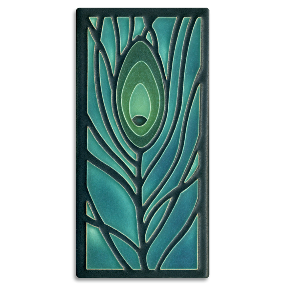 Peacock Feather 4x8 Tile