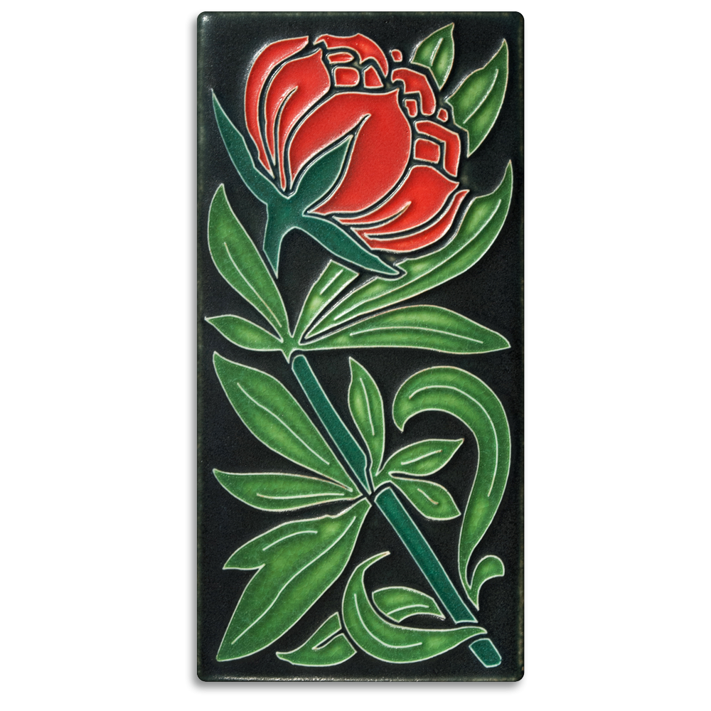 Peony 4x8 Tile in Red