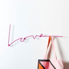Love Wall Rack in Pink