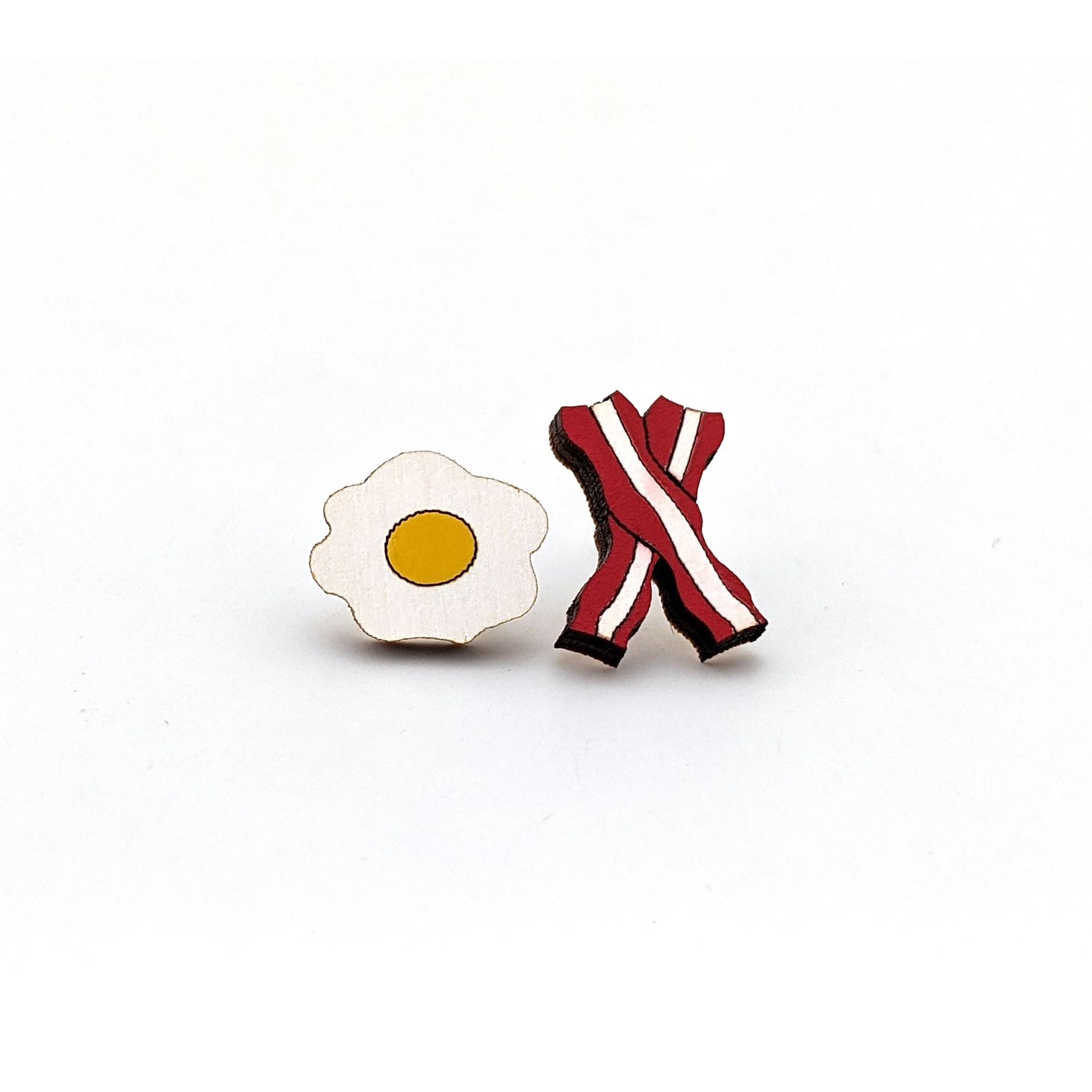 Bacon & Eggs Earrings