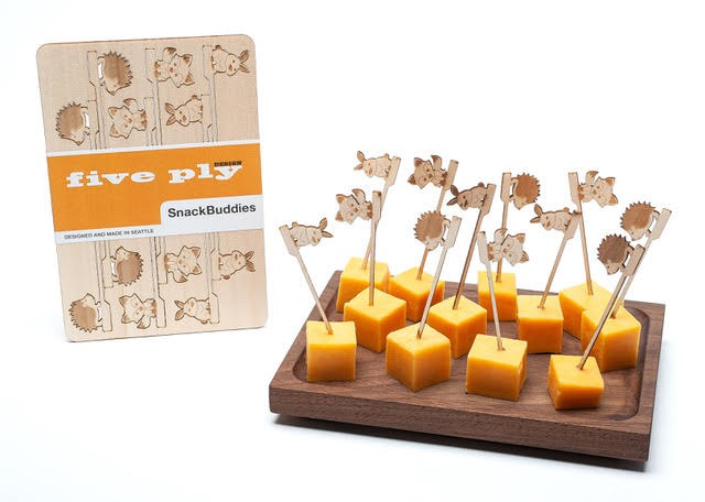 Hardwood SnackBuddies Set