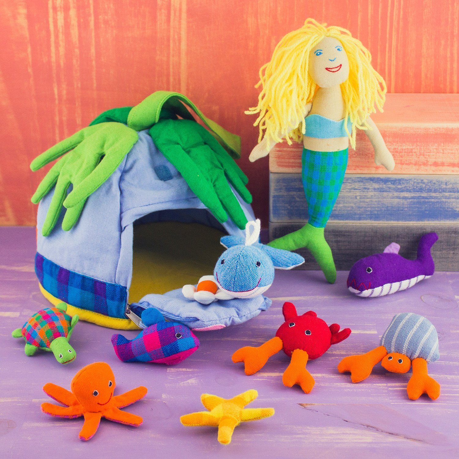 Mermaid Playhouse Plush Set