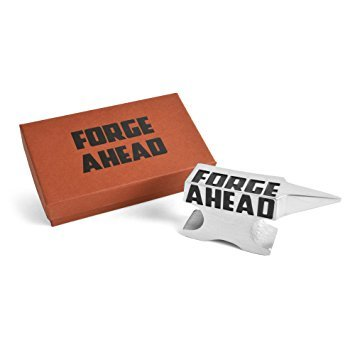 Forge Ahead Anvil Paperweight