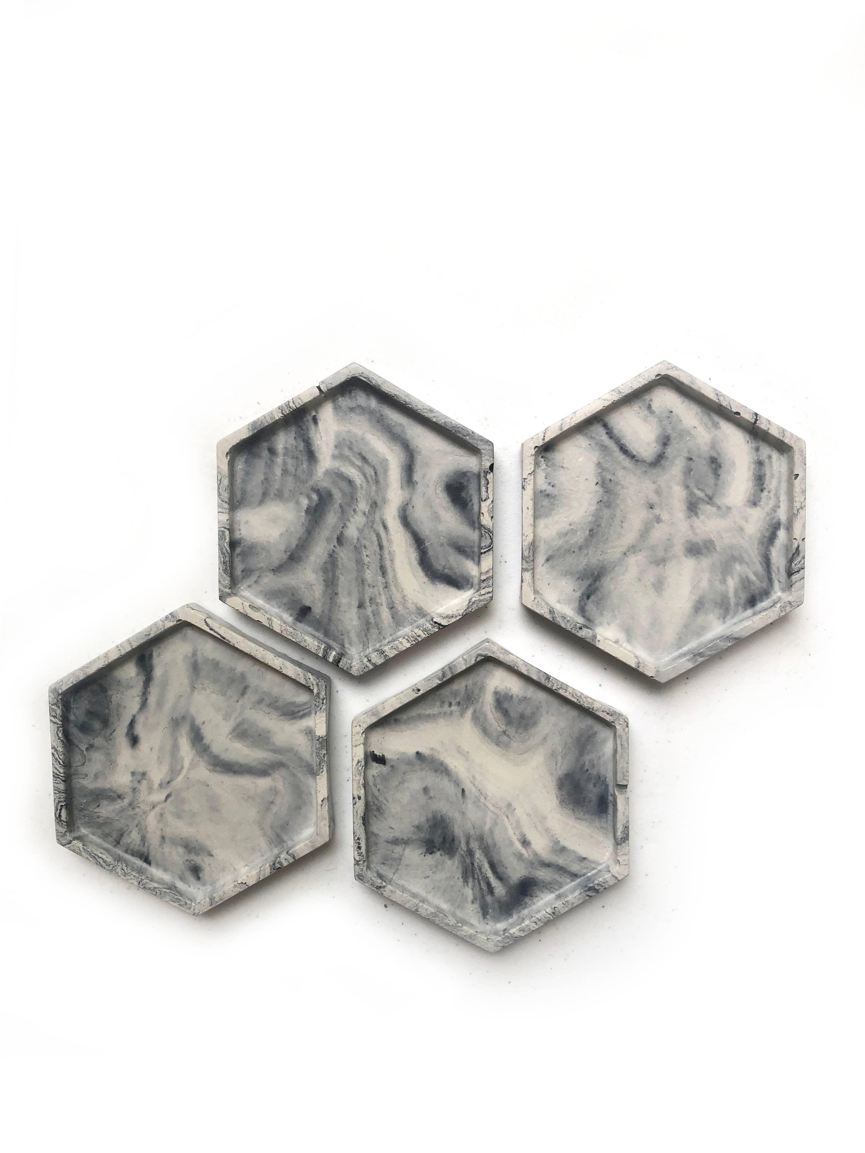 Geometric Concrete Coaster Set/4