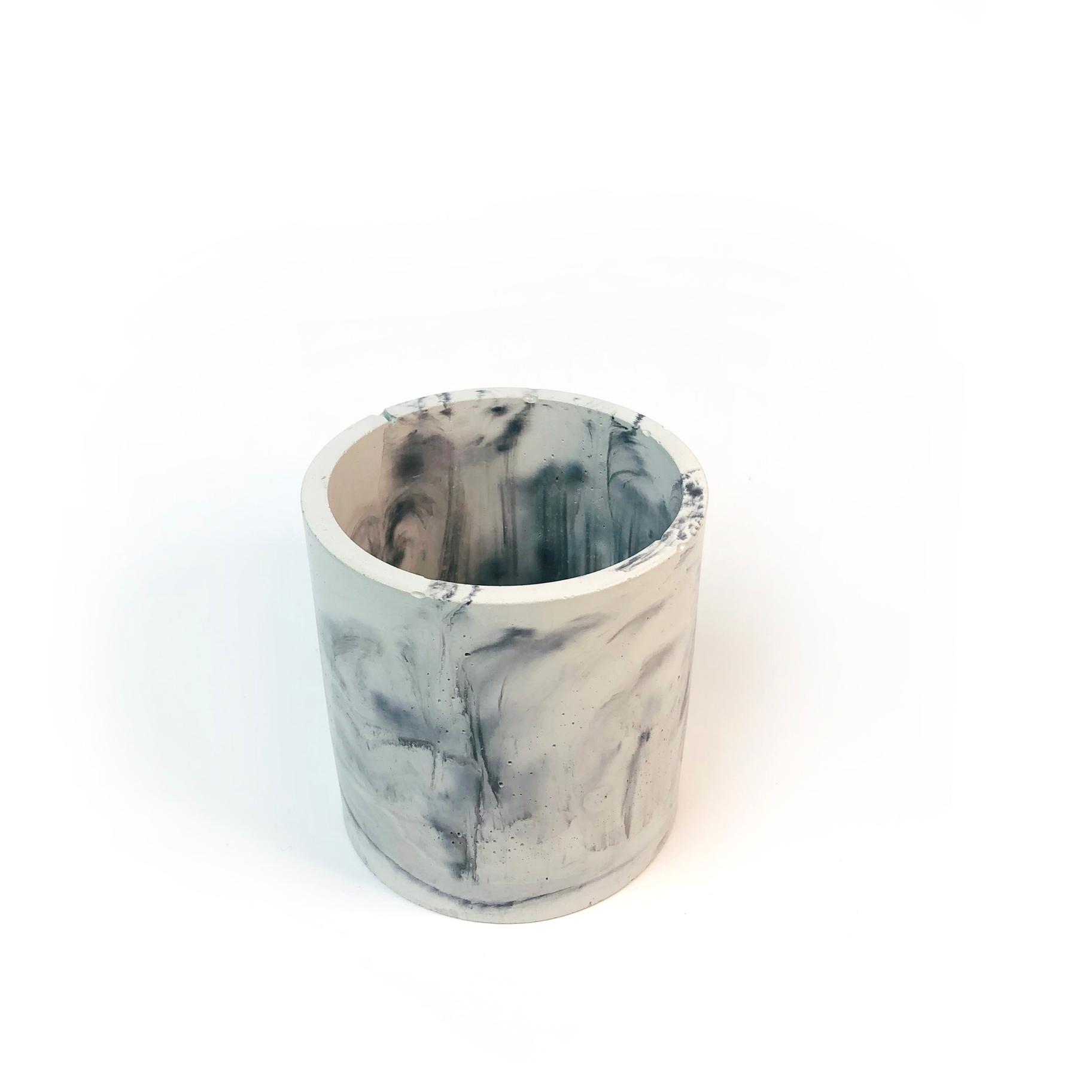 Round Concrete Planter + Vessel