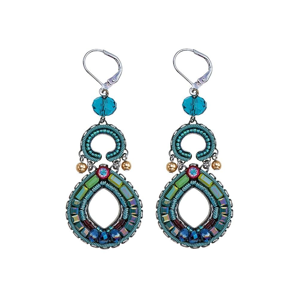 Turquoise Crown Nora Earrings