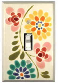 Glass Flowers Switchplate