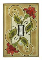 Jacobean Flower Switchplate