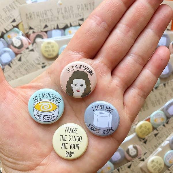 Elaine Benes Button Set/4