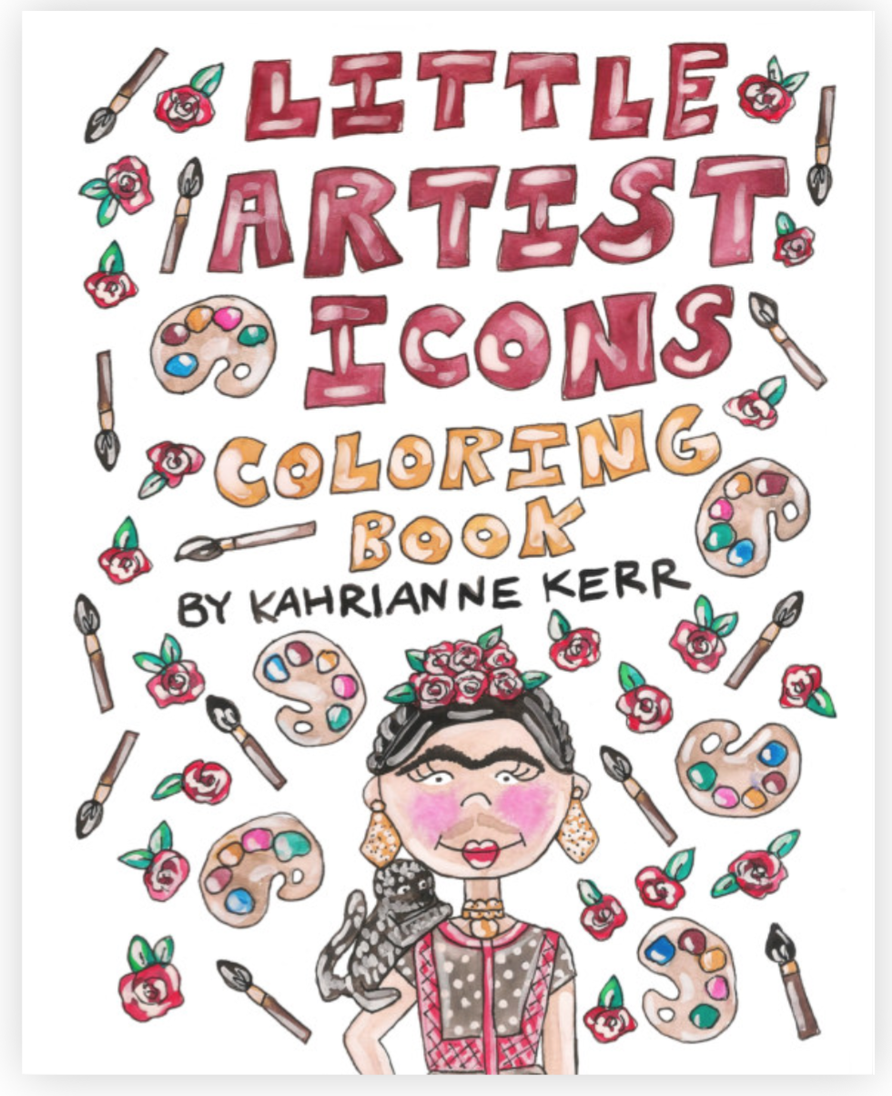 Little Artist Icons Coloring Book