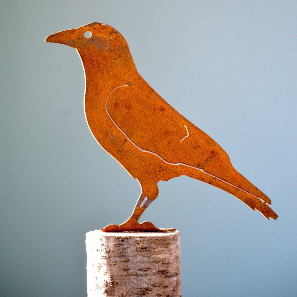 Crow Silhouette Rusty Bird
