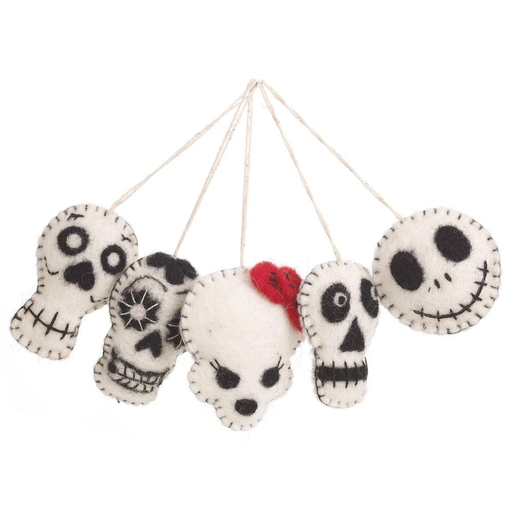 Felt Hallowen Skulls Set/5