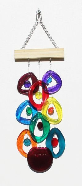 Northern Lights Recycled Glass Chime