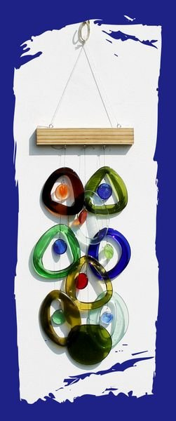 Southern Night Recycled Glass Chime