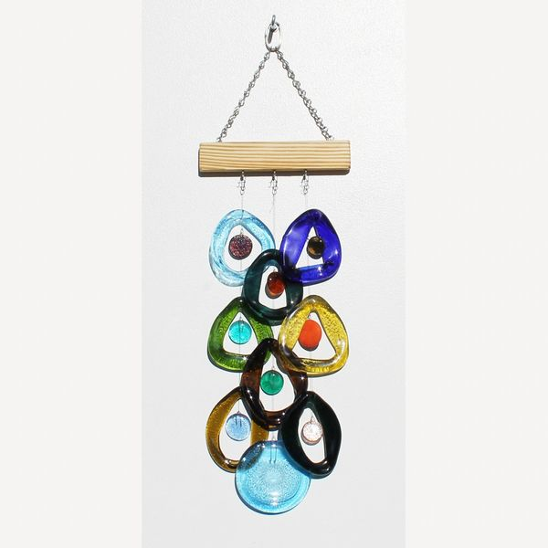 Southern Nights Recycled Glass Chime
