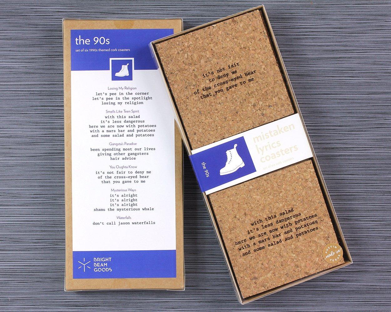 The 90's Mistaken Lyrics Coasters