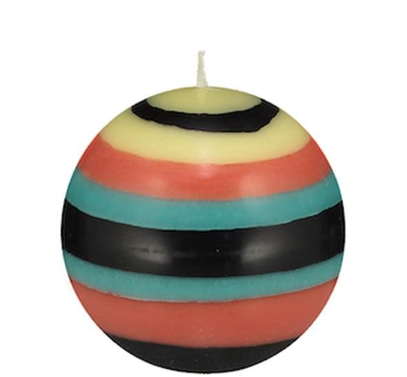 Small Striped Ball Candle