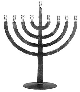 Flame Menorah