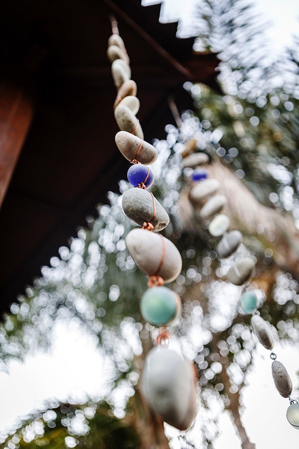 Raindrop 6' Stone & Glass Garland