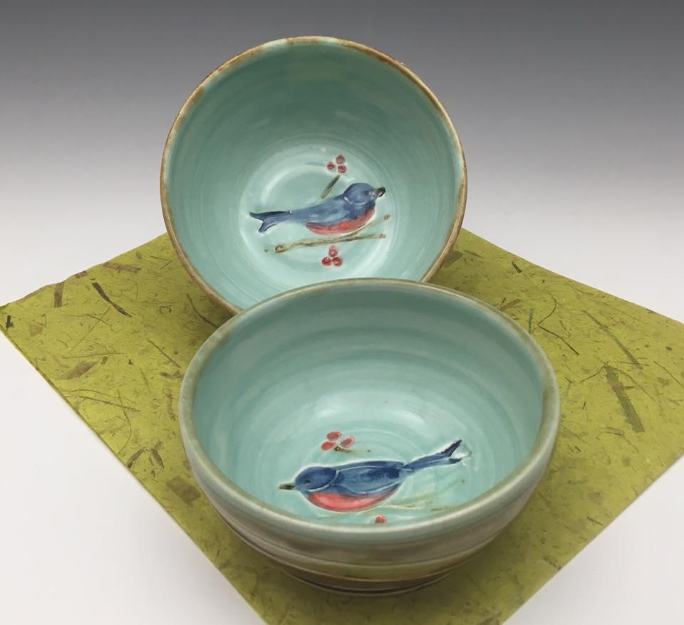 Robin's Egg Bird Bowl