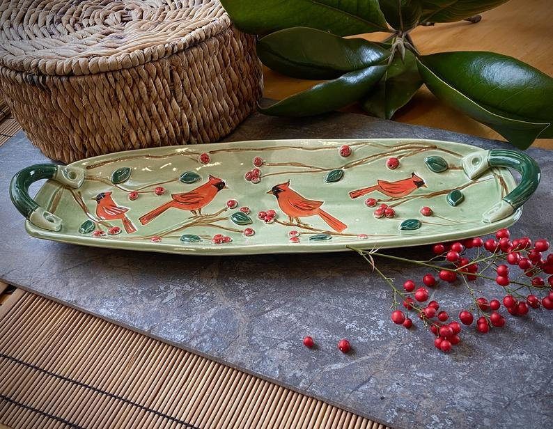 Cardinal Serving Tray w/Handles