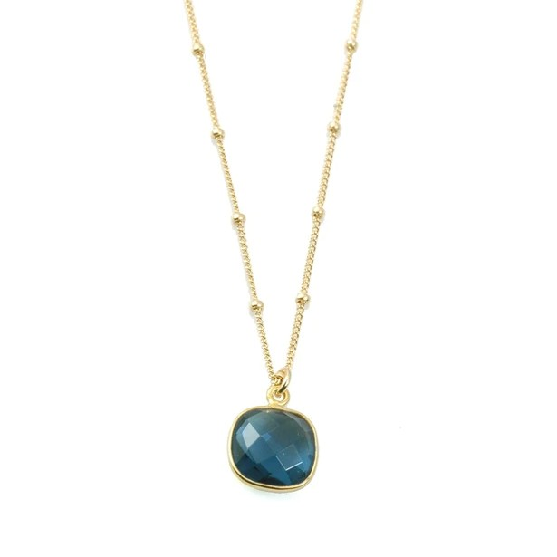 Blue Hydro Quartz Vermeil Necklace