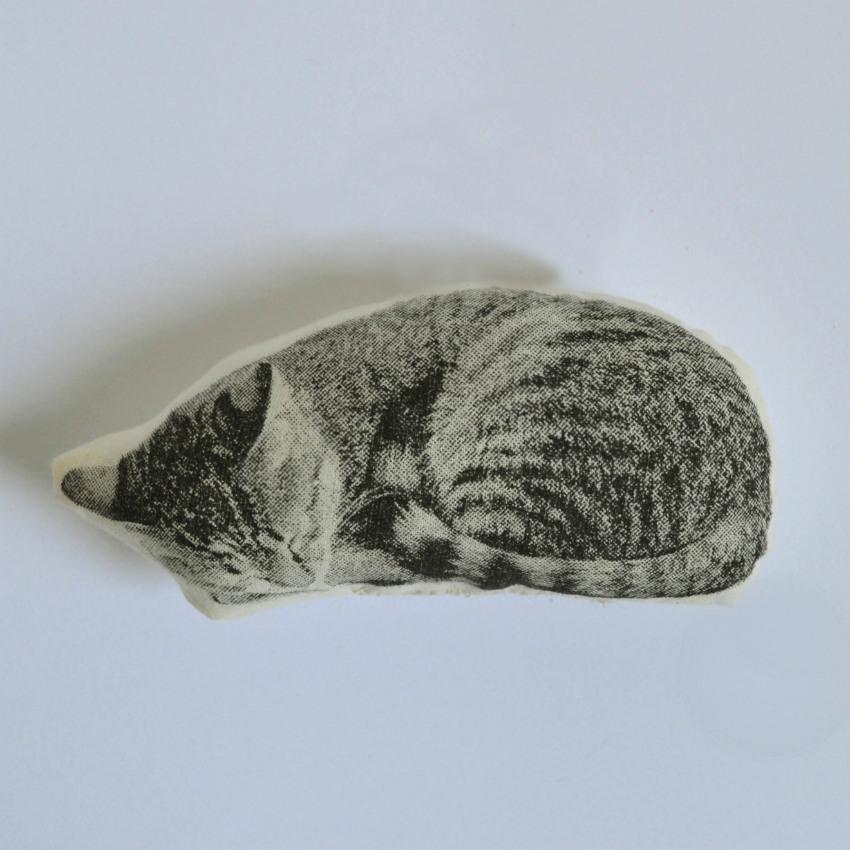 Sleeping Cat Pillow