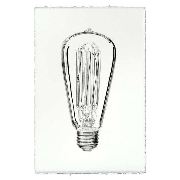 Edison Bulb 9x14 Print on Nepalese Paper