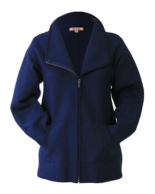 Corina Felted Alpaca Jacket in Navy (L)