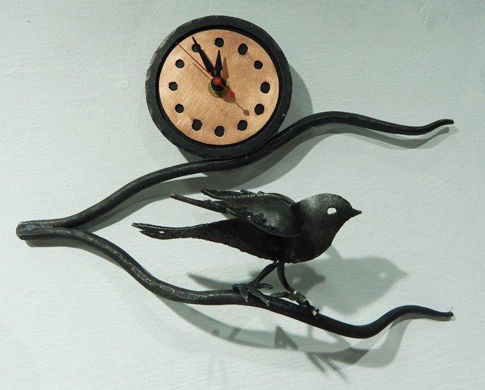 Bird on Branch Wall Clock