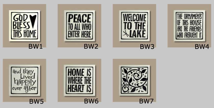 House Numbers - Decorative B/W End Tile