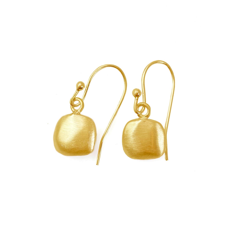 Puffy Square Vermeil Earrings