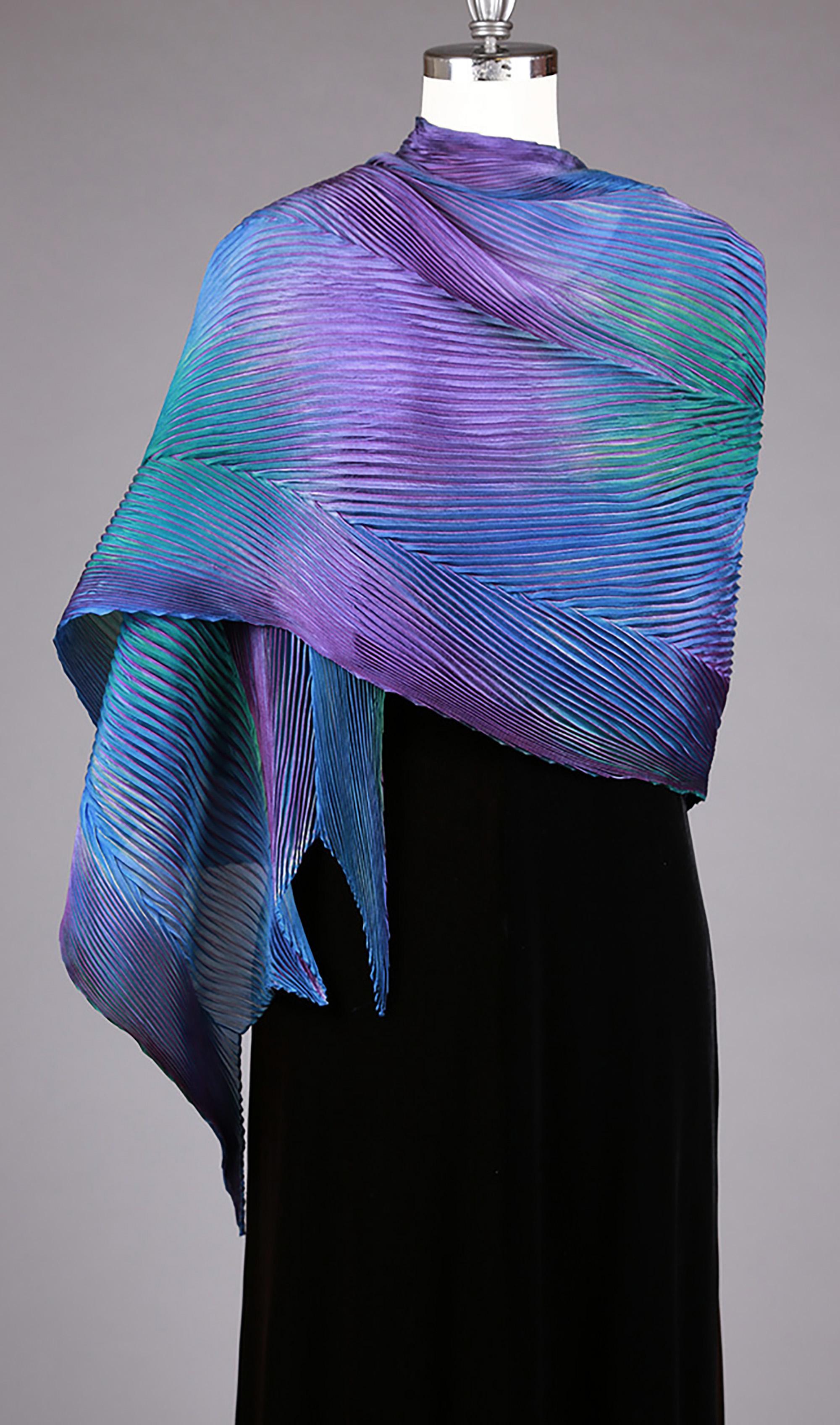 Purple/Blue Silk Shawl