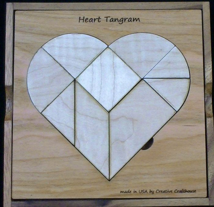 Heart Tangram Puzzle