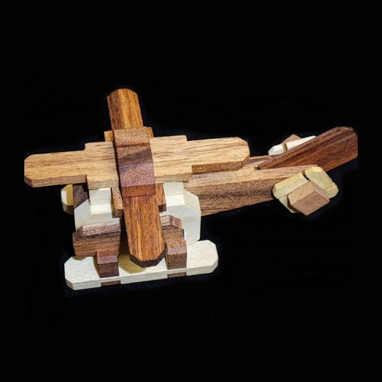 Helicopter Wood Puzzle