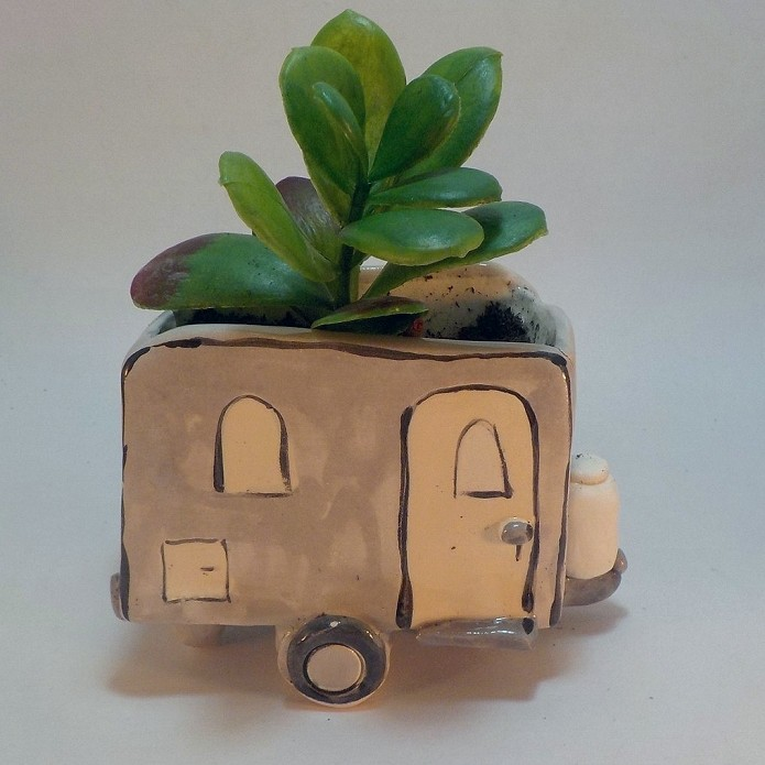 Happy Camper Succulent Planter