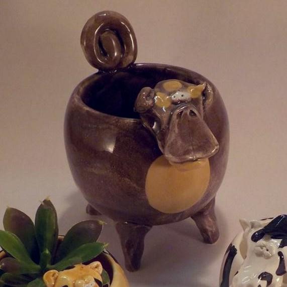 Monkey Succulent Planter