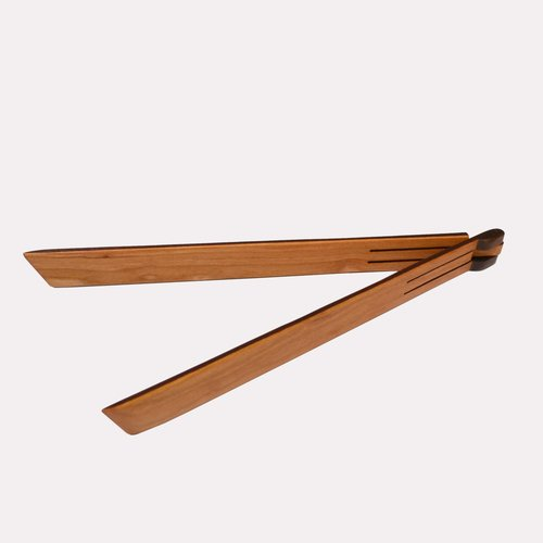 Folding Cooking Tongs in Cherry