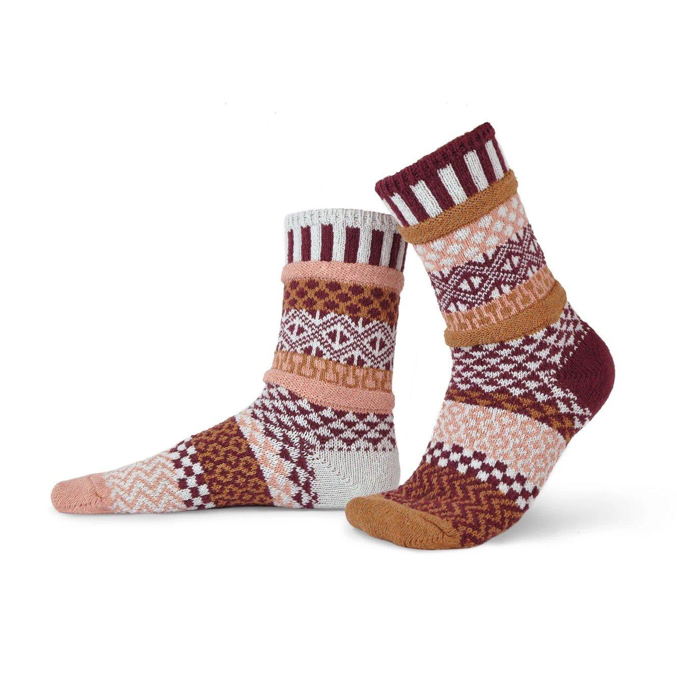 Amaranth Adult Crew Socks