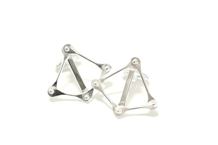 Crossbow Cufflinks in Argentium Silver