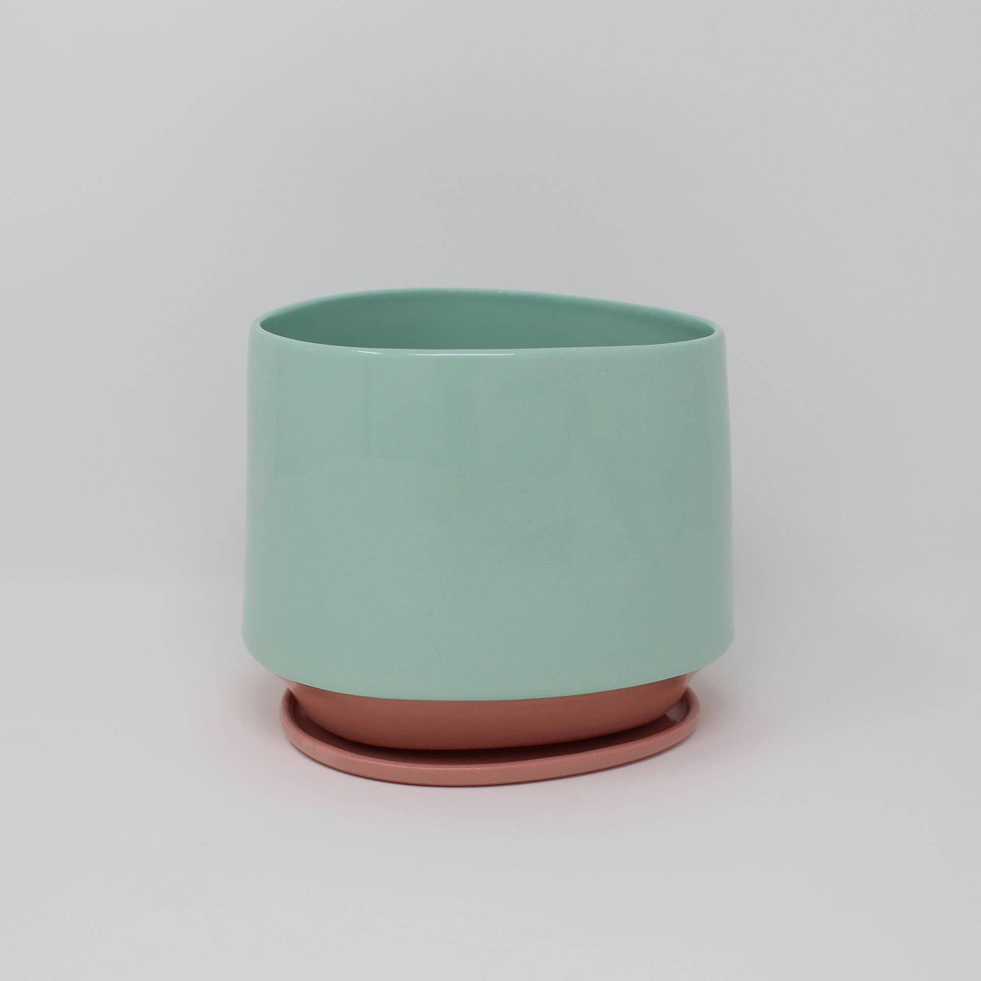Bottom Curve Planter/Plate Set