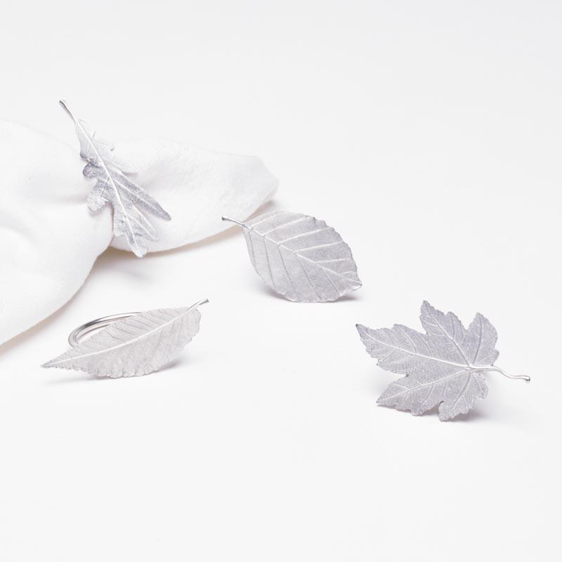 Leaf Napkin Ring Set/4