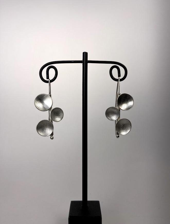 3 Circle Design Earrings