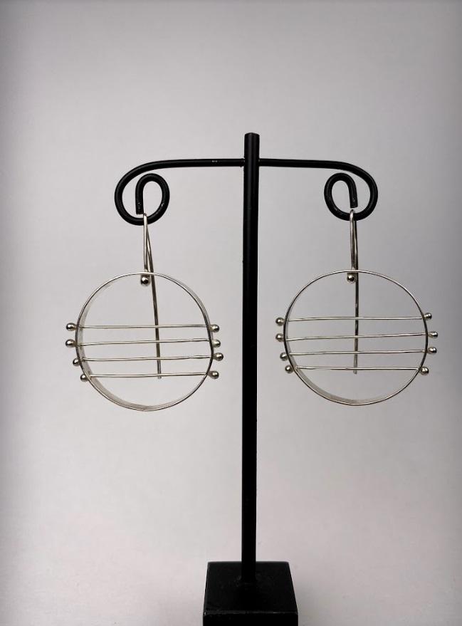 Stripped Hoop Earrings